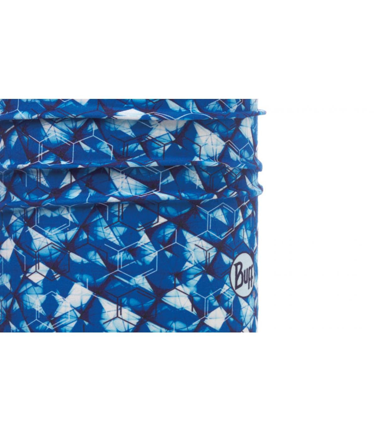 Buff gedrukt blauw wit