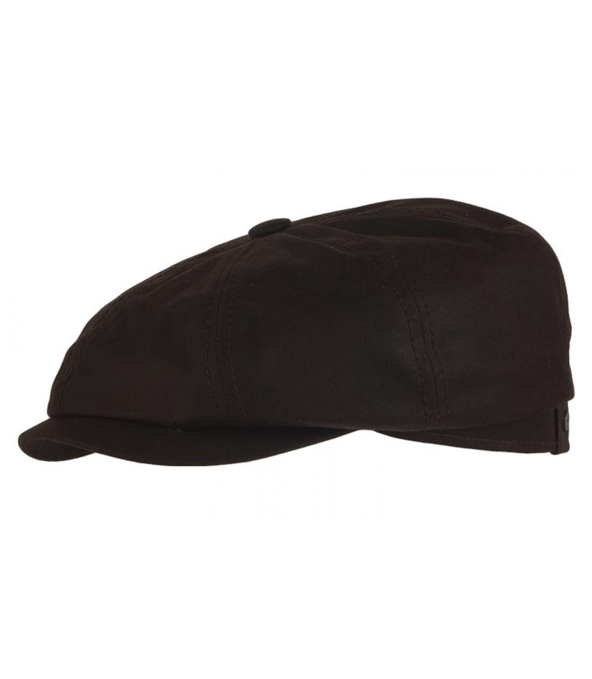 Bruine waxed katoenen hatteras