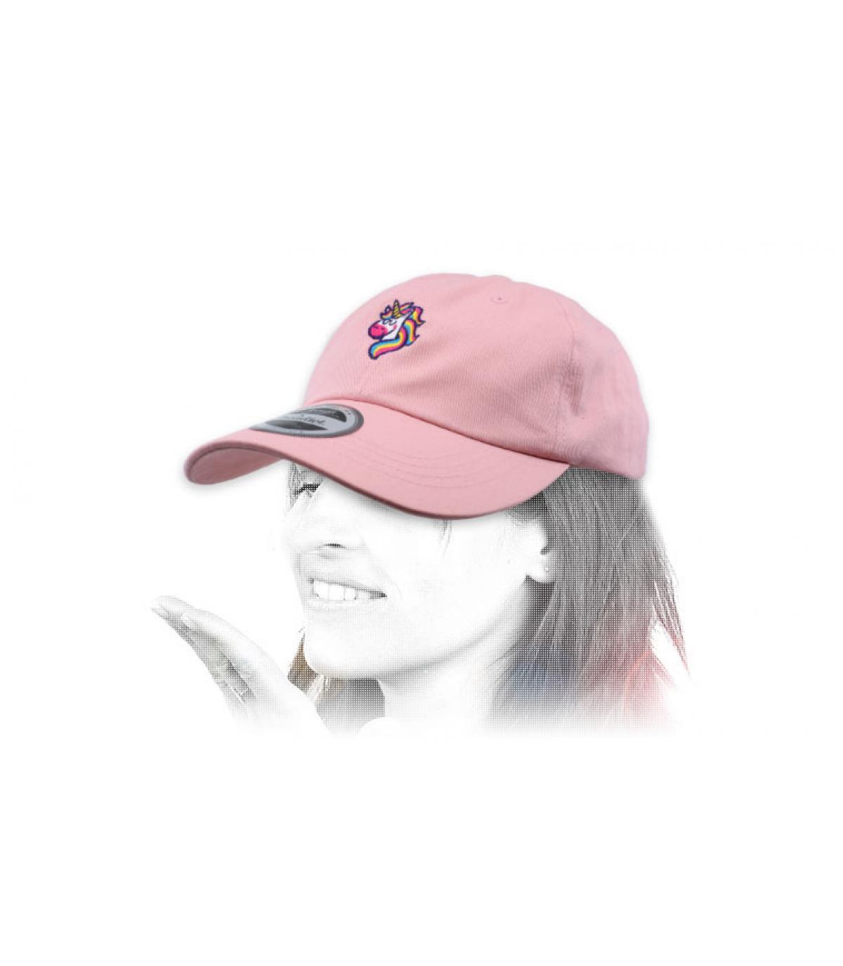 roze eenhoorn cap