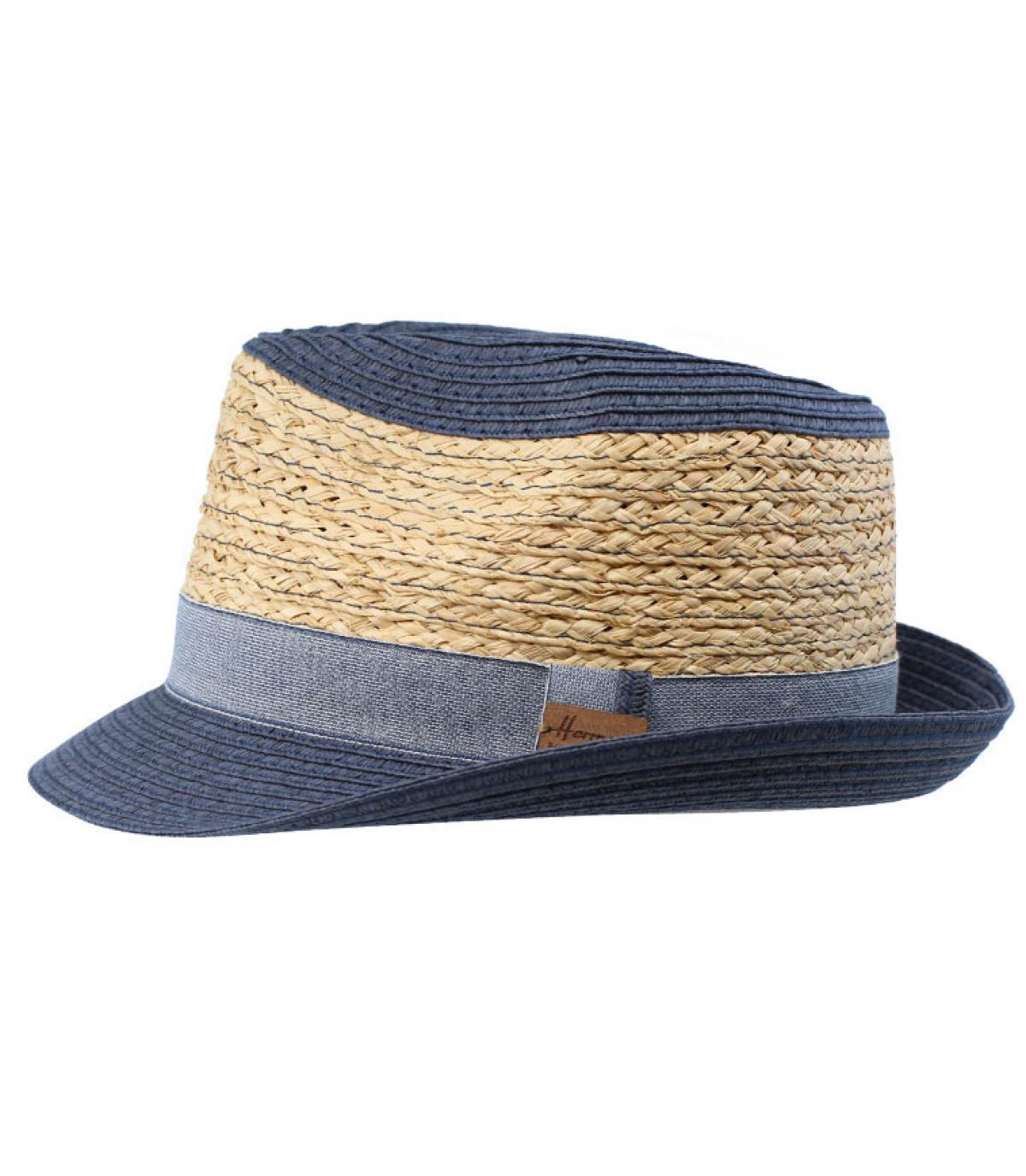 trilby blauw beige stro