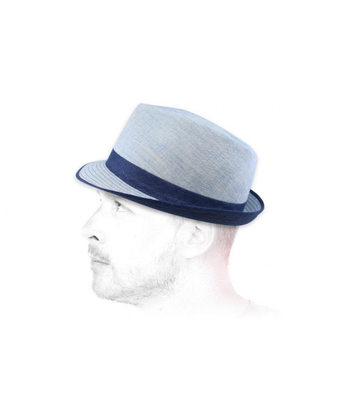 trilby blauwe stof