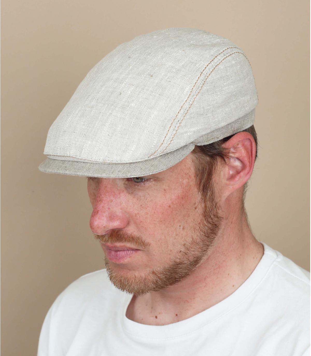 beige linnen baret