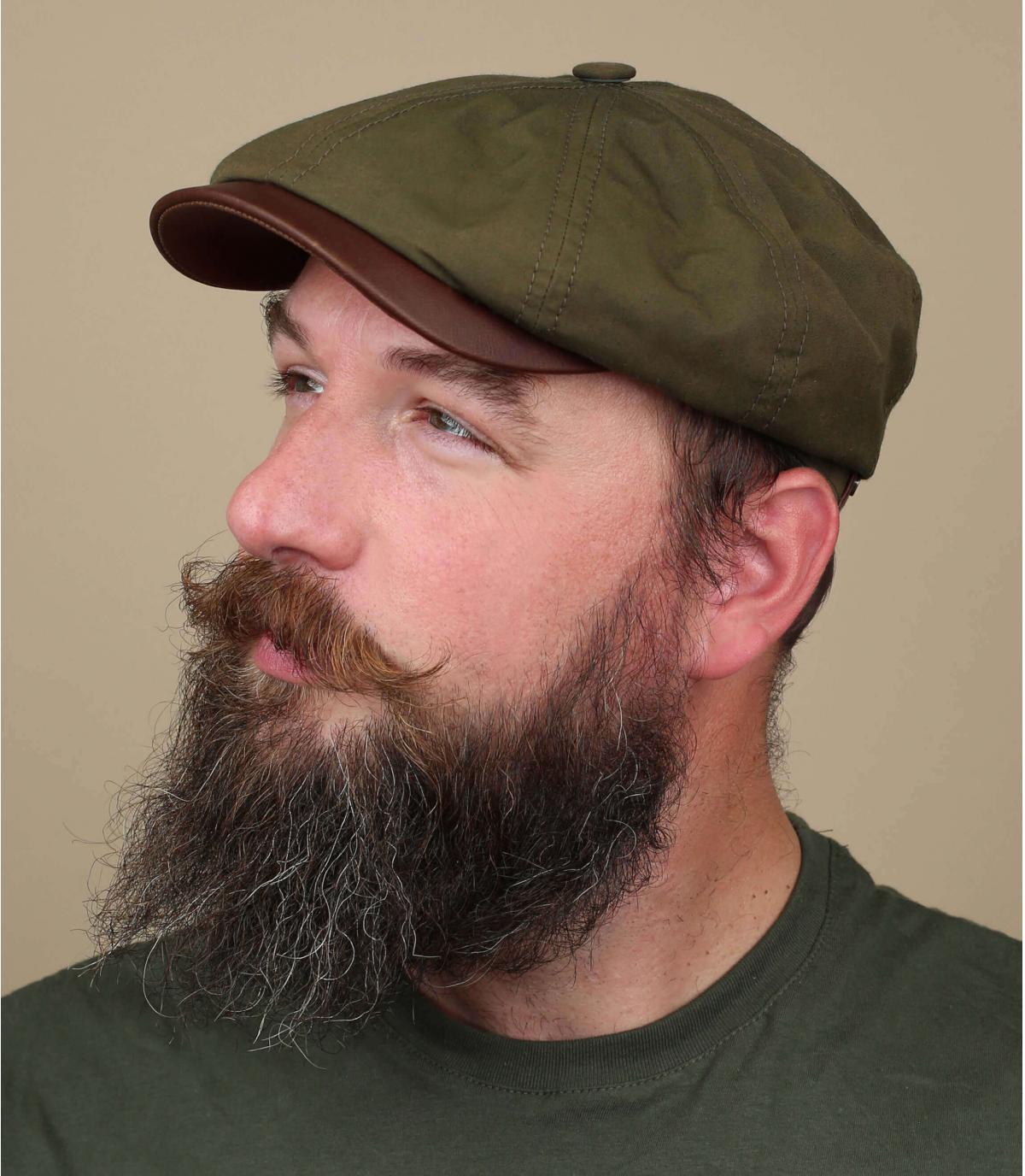 Stetson groene krantenverkoper baret