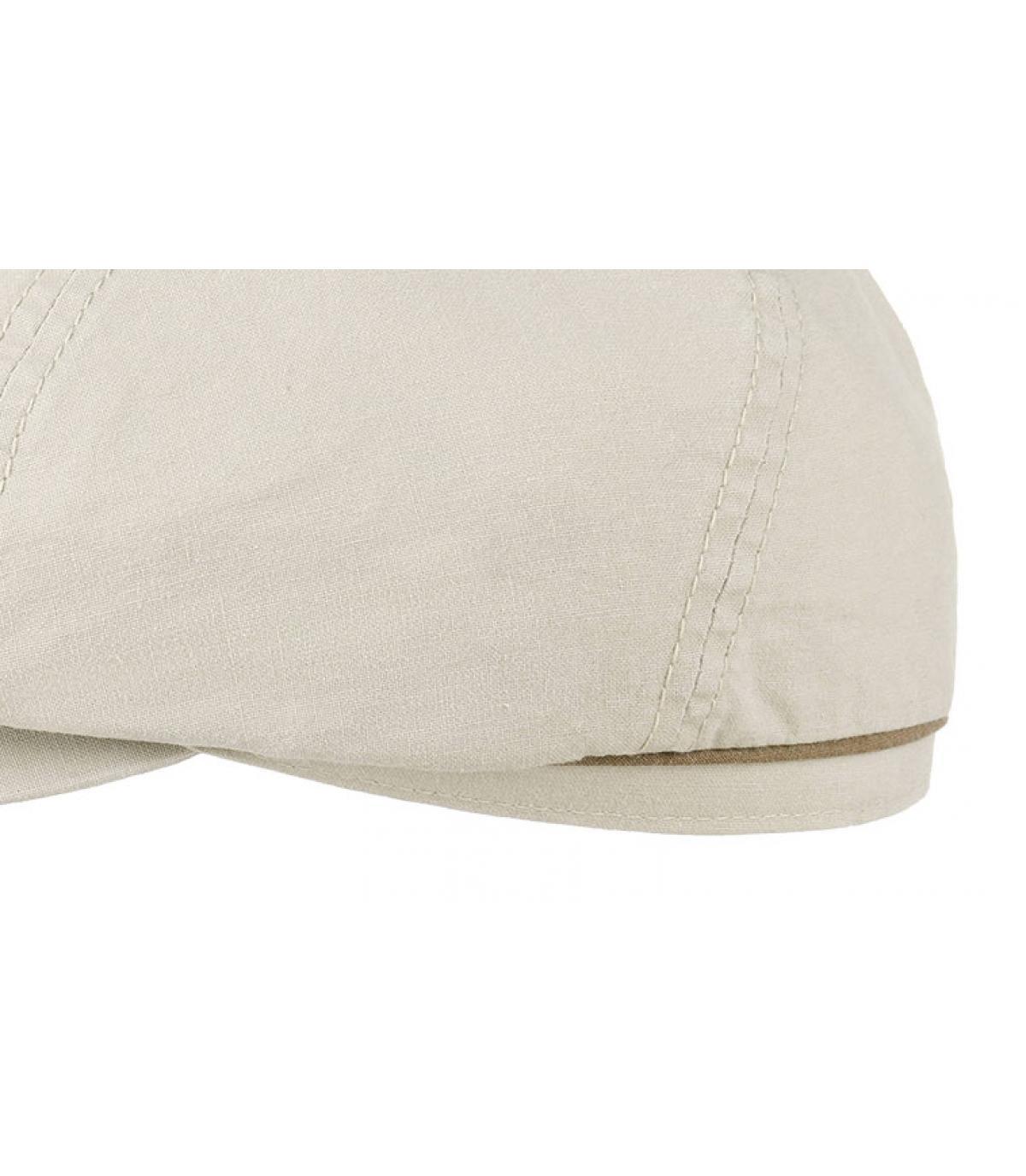 Details Brooklyn cap waxed cotton organic beige - afbeeling 3