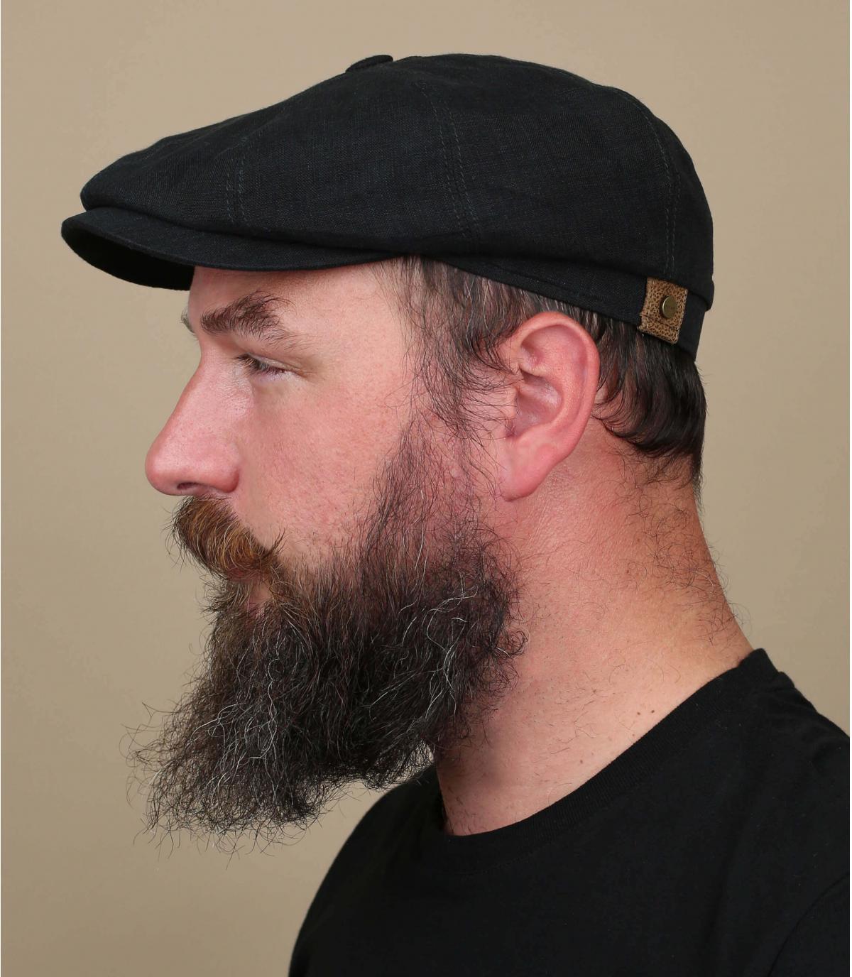 Zwarte linnen hatteras