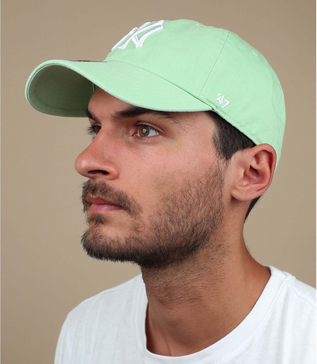 lichtgroene NY cap