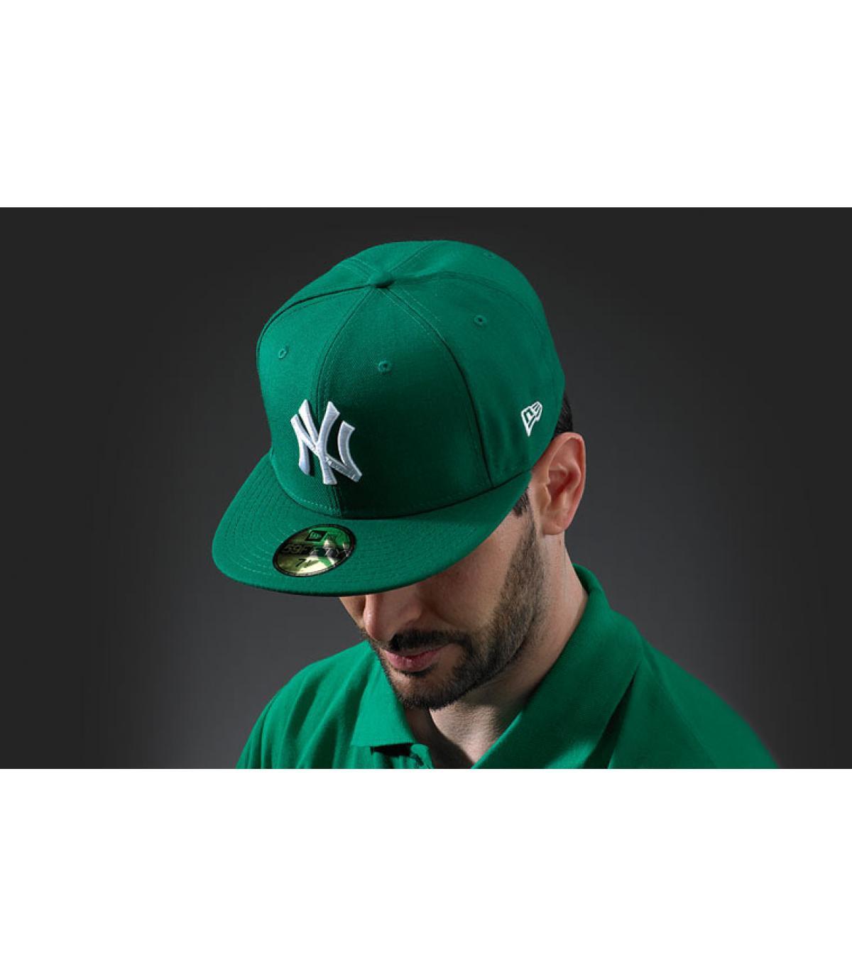Cap New York groen