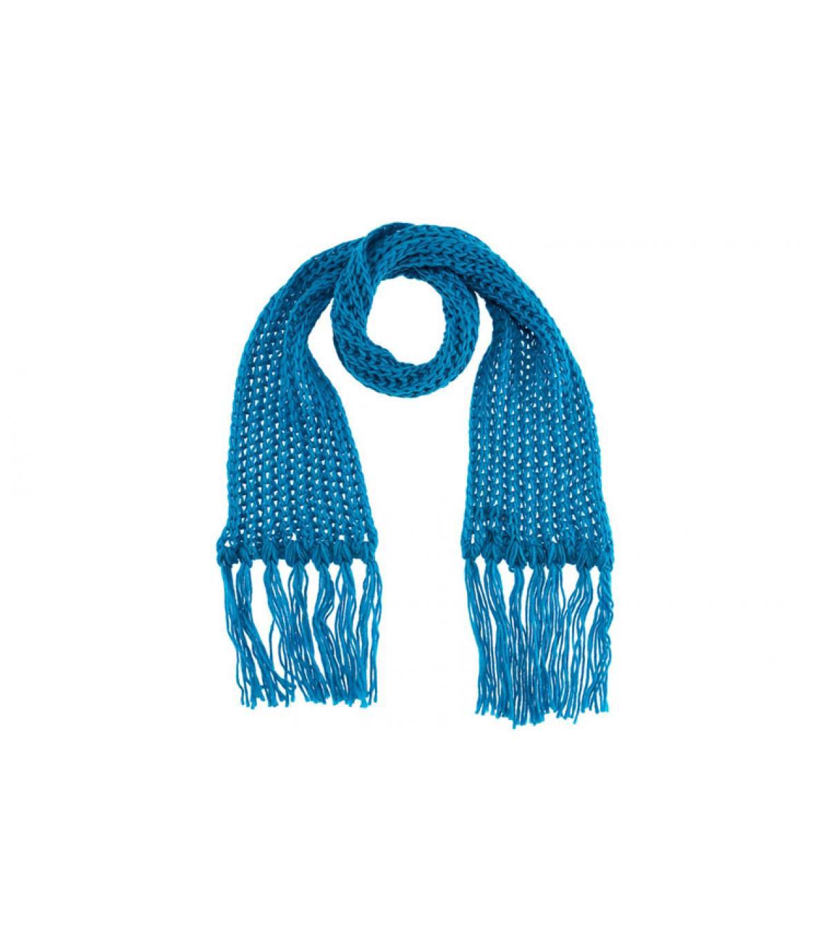 Bruine sjaal met franjes