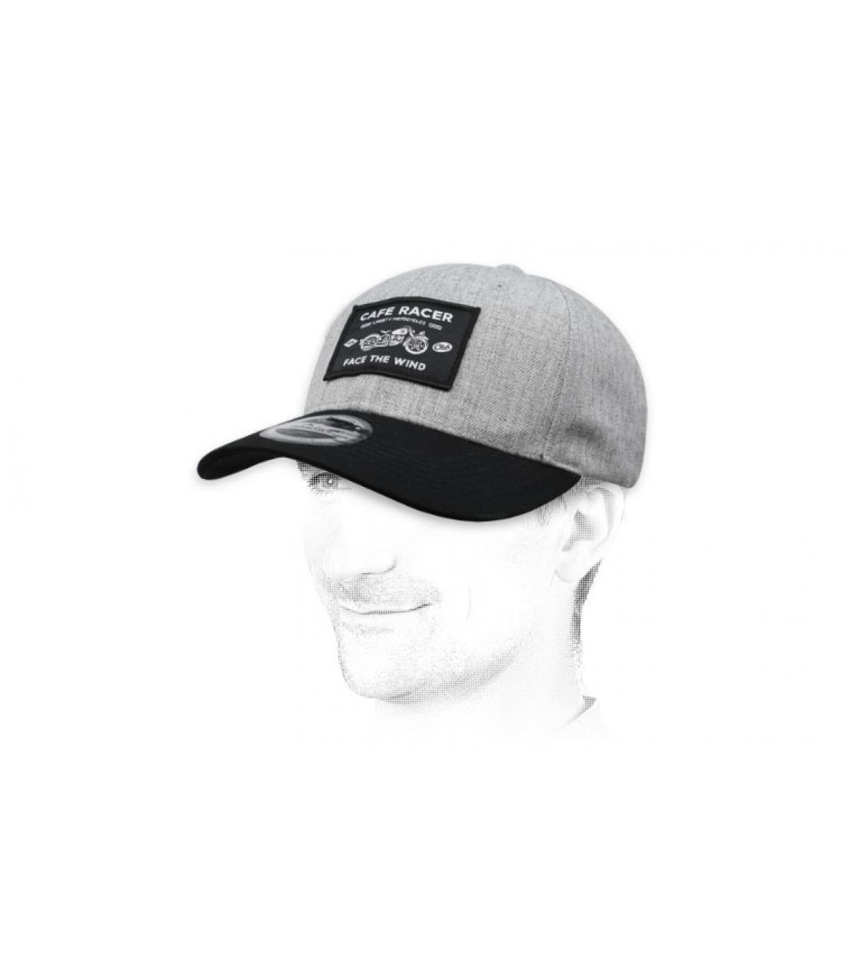 grijs Café Racer cap