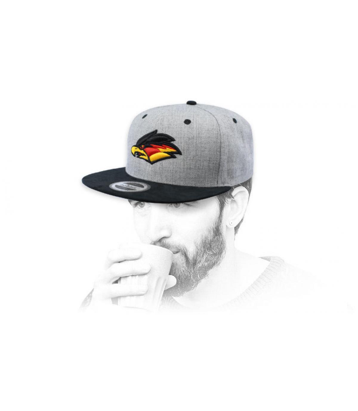 snapback adelaar grijs