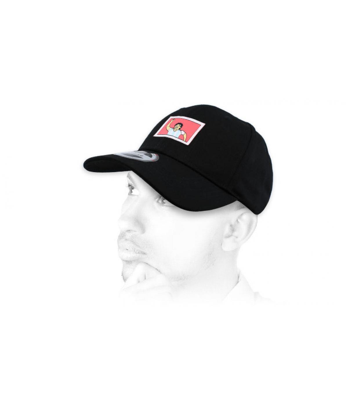 Zwarte cap van Napels