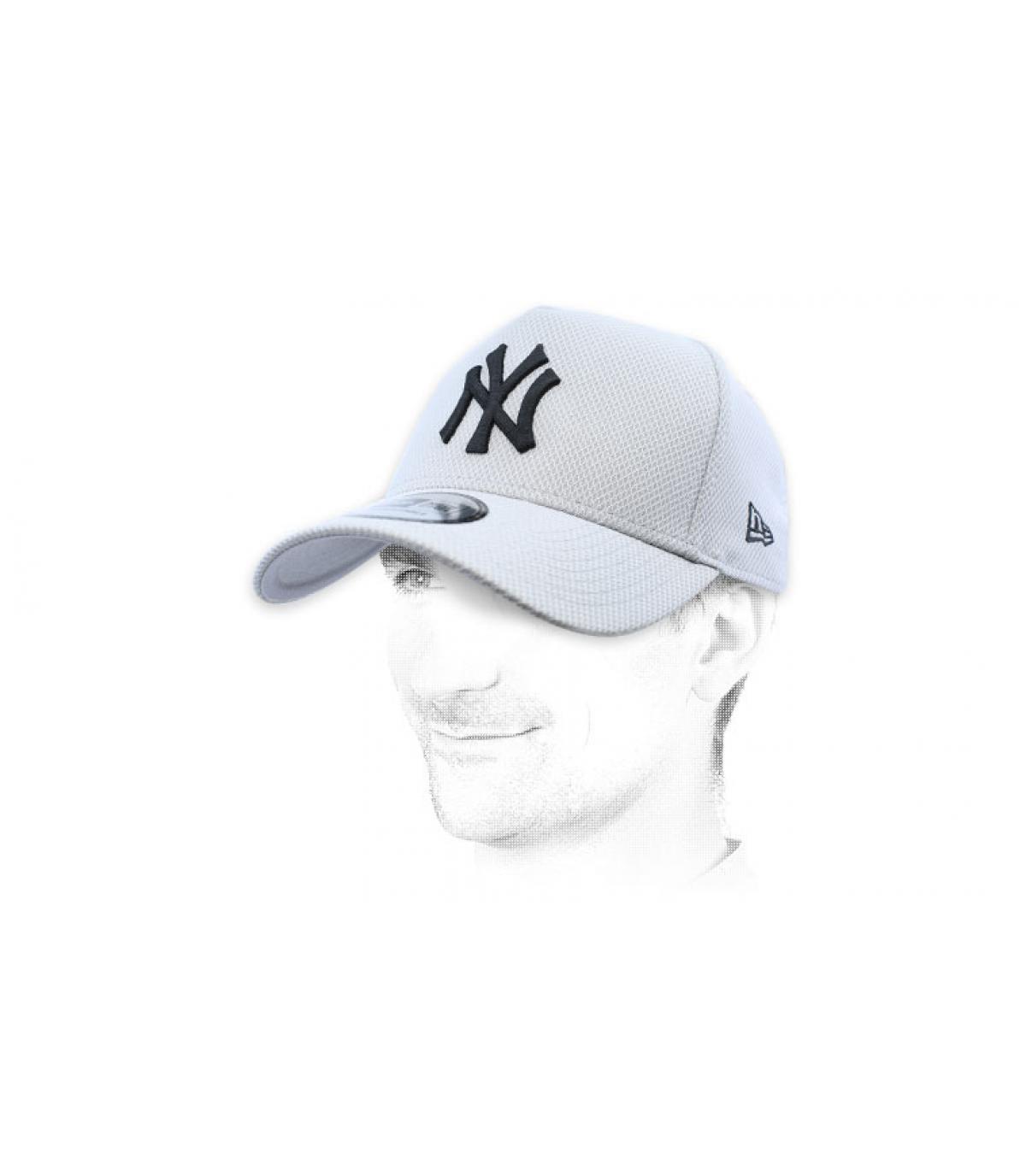 NY grijze diamond cap