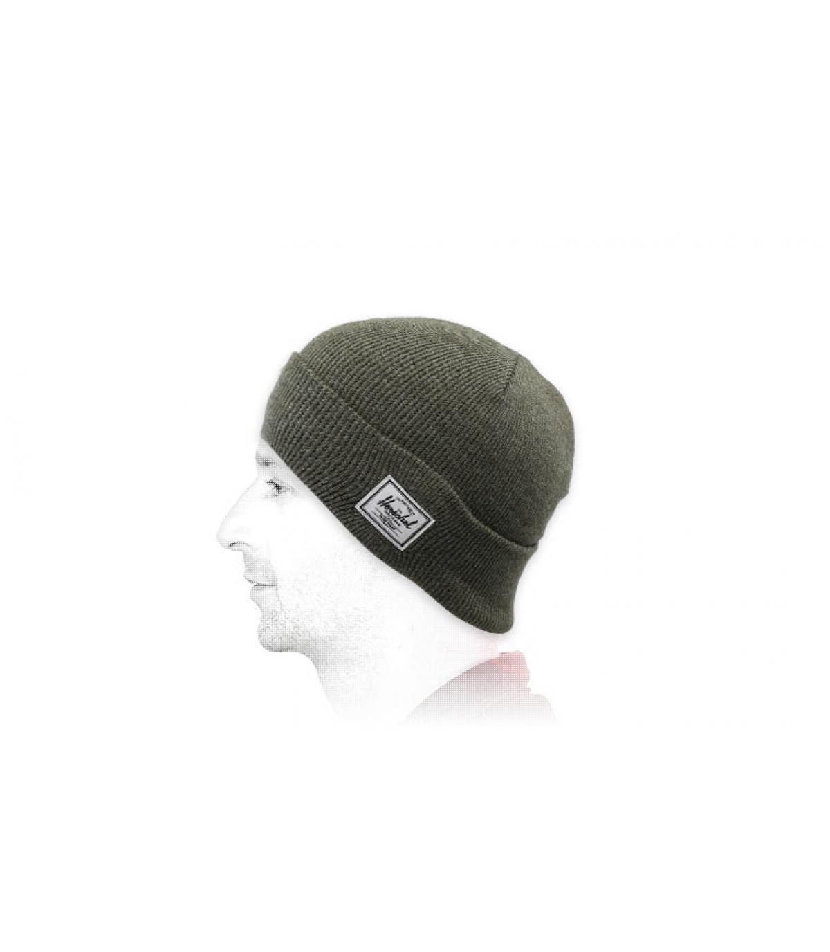 groene omkeerbare hoed van Herschel