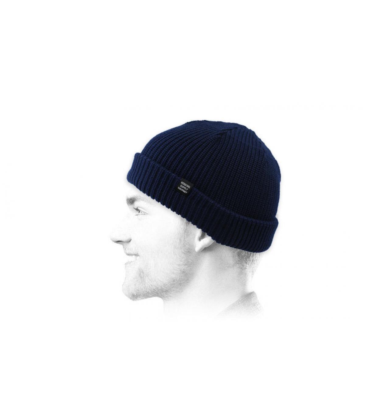 dokwerkerhoed blauw Herschel