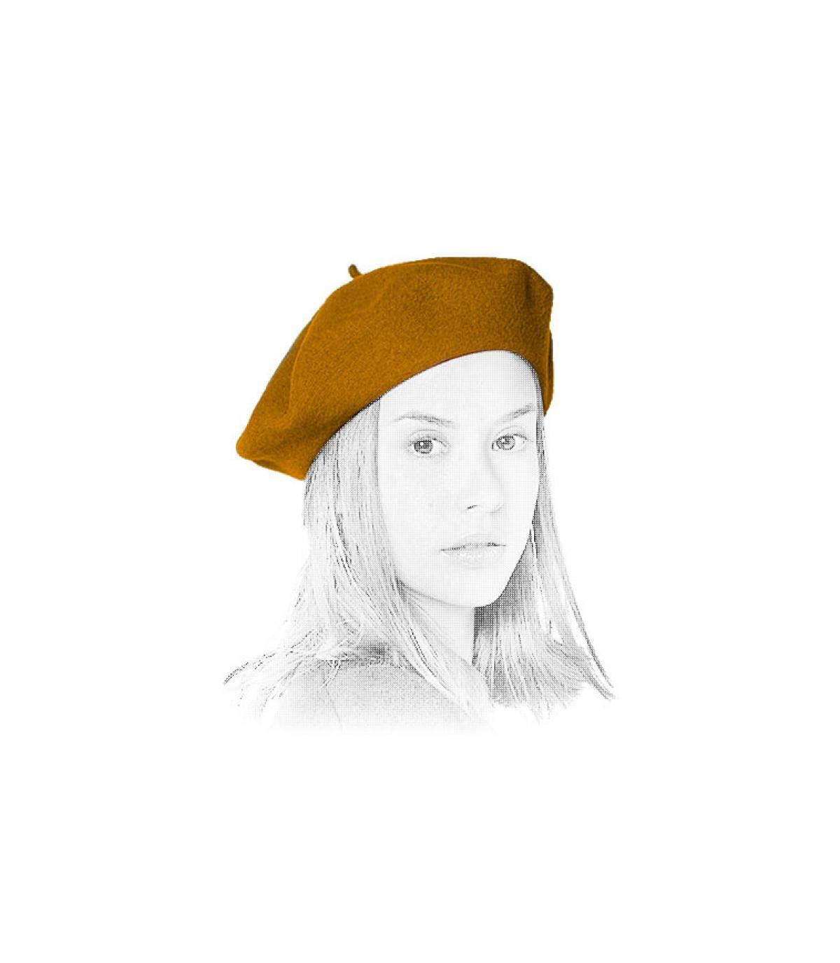 baret beige Laulhère