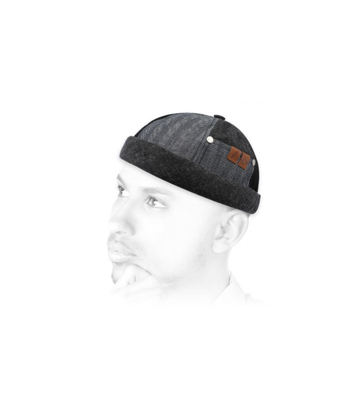 Miki grijs zwart flanel