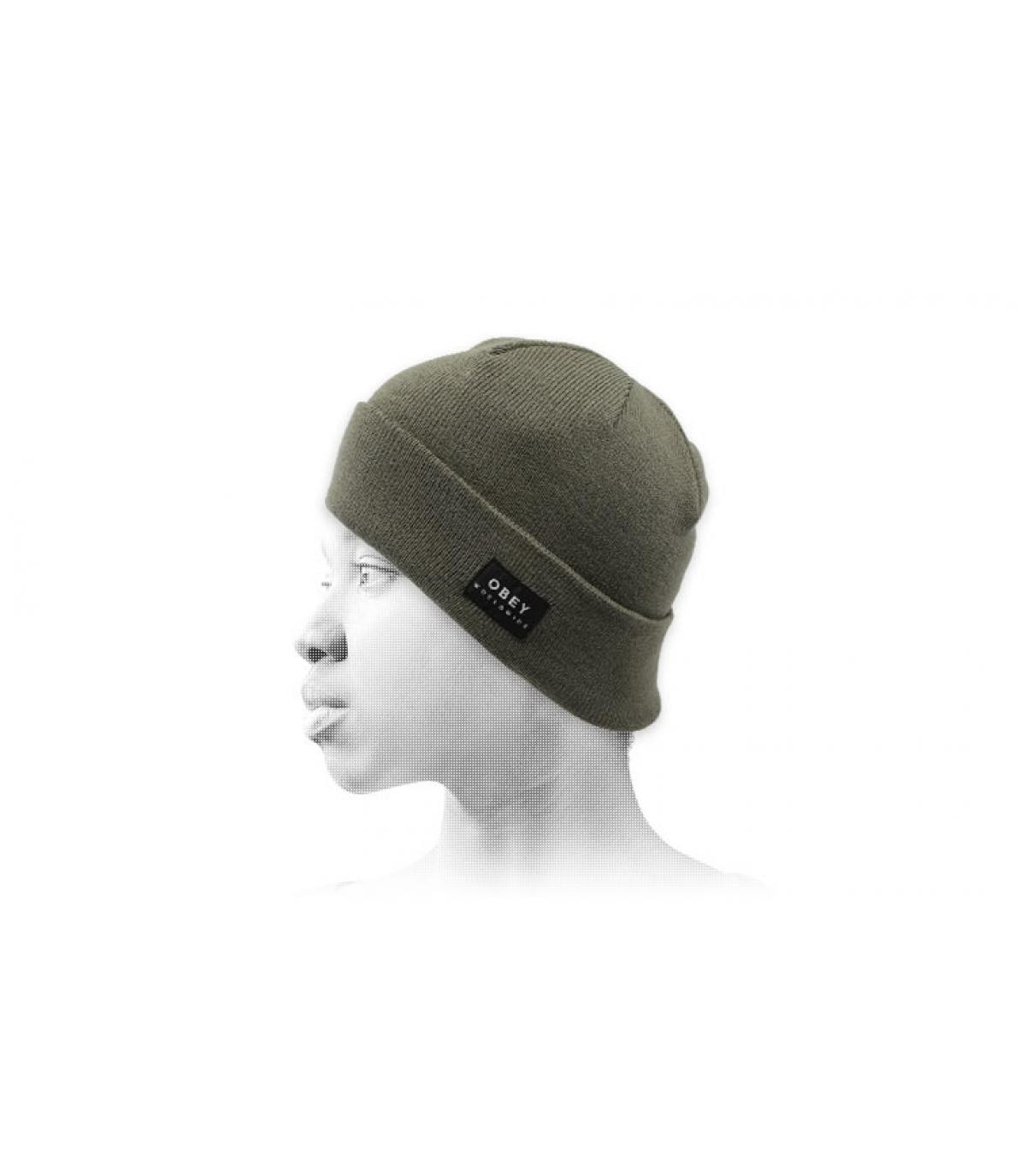 groene omkeerbare hoed Obey