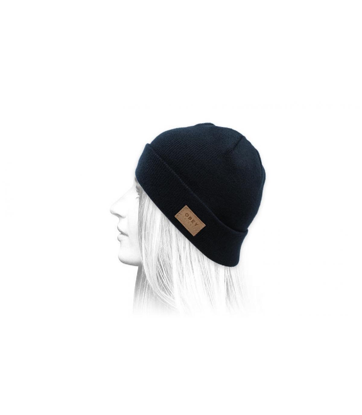 blauwe omkeerbare hoed Obey