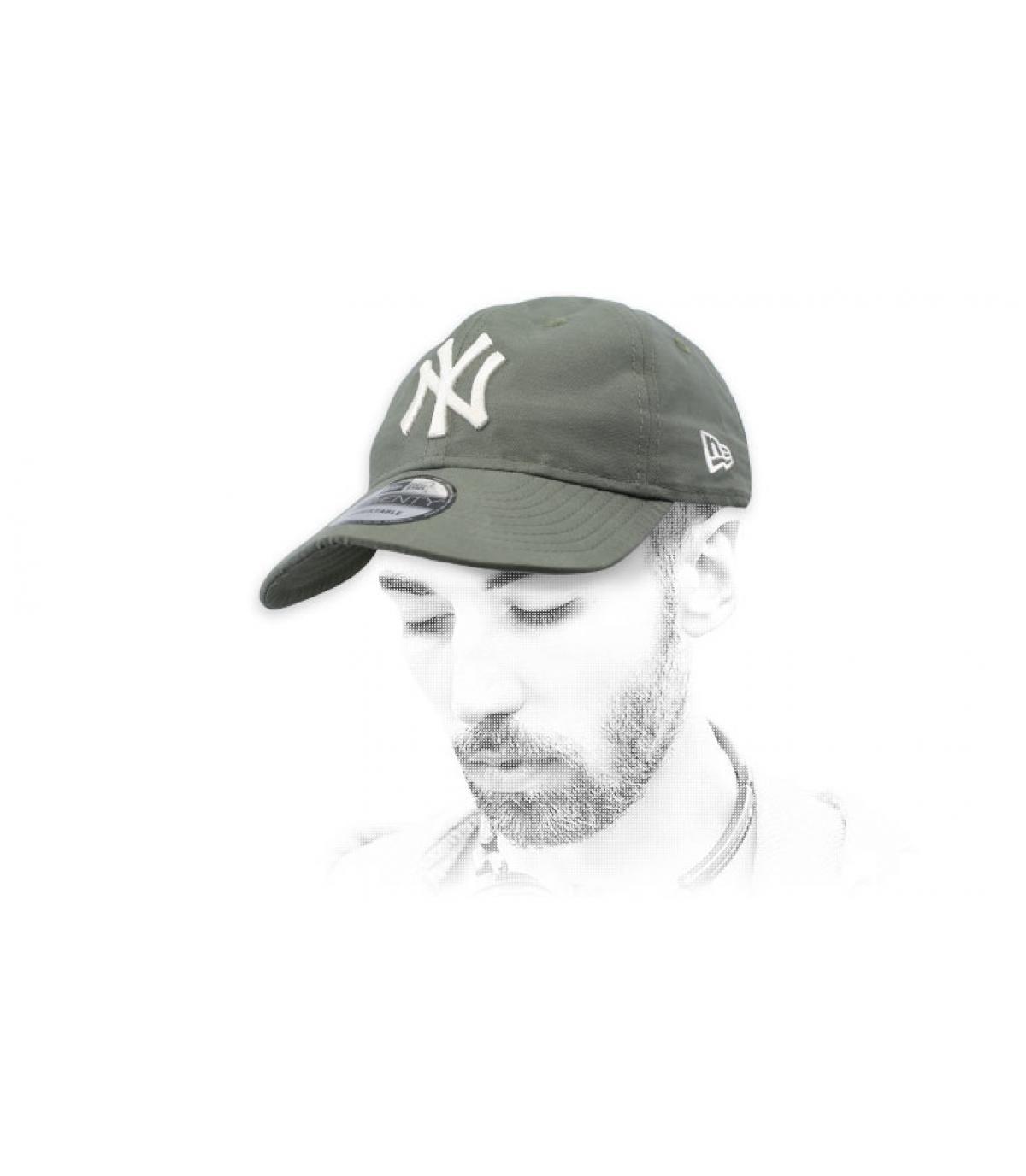 groene opvouwbare NY-cap