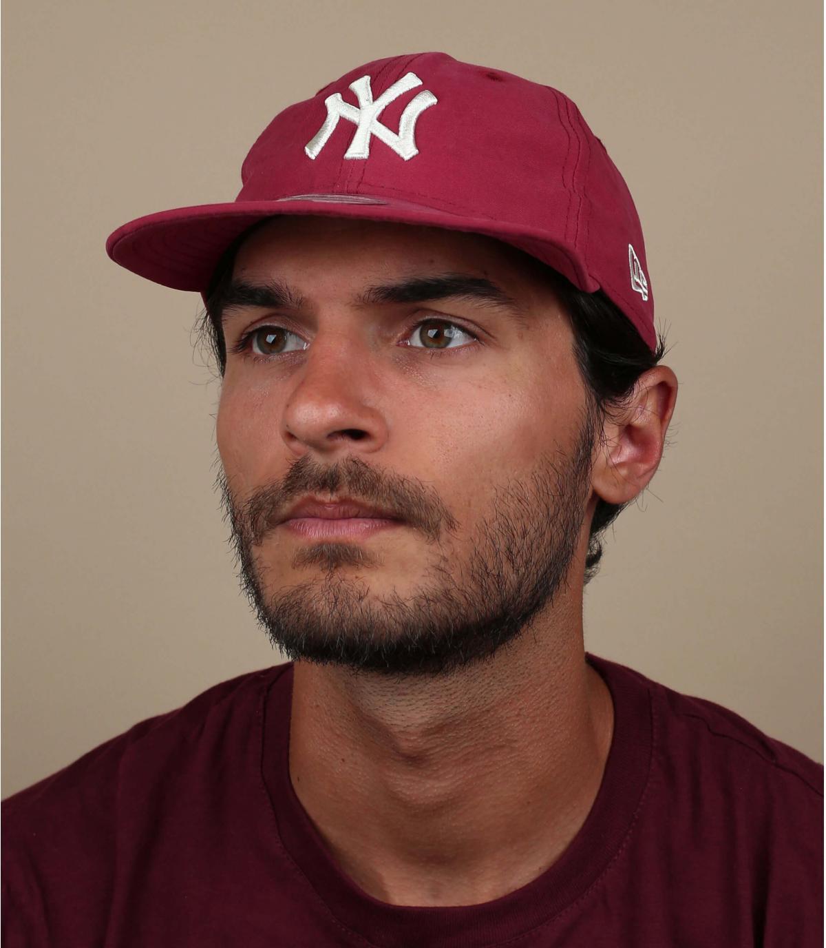 opvouwbare burgundy NY cap