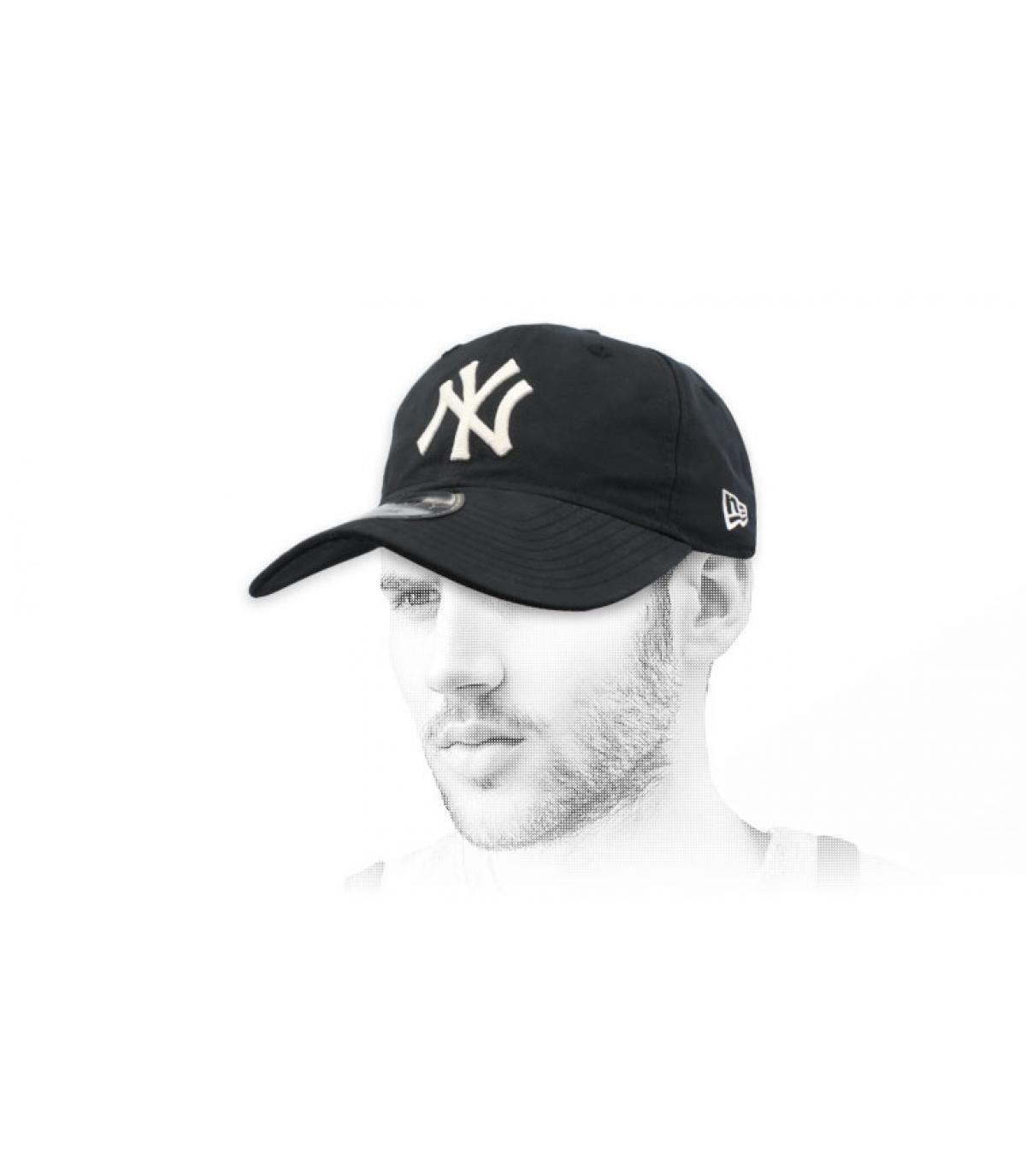 zwarte opvouwbare NY-cap
