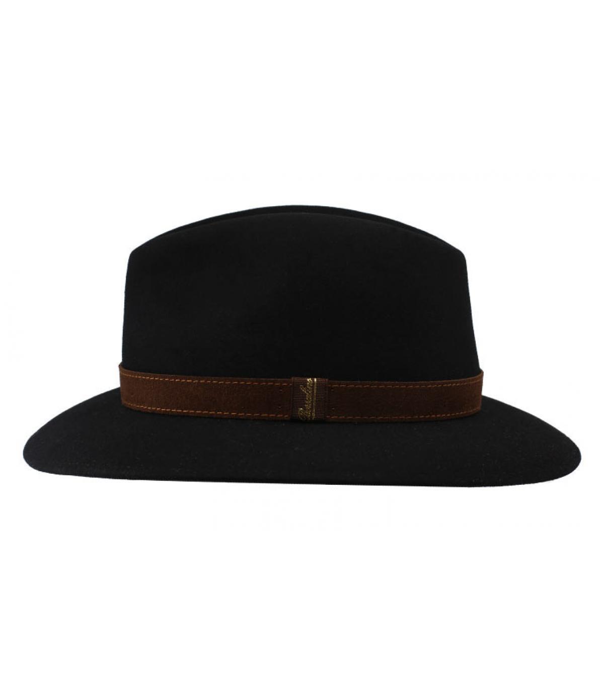 Details Alessandria black Fur Flet Hat - afbeeling 2