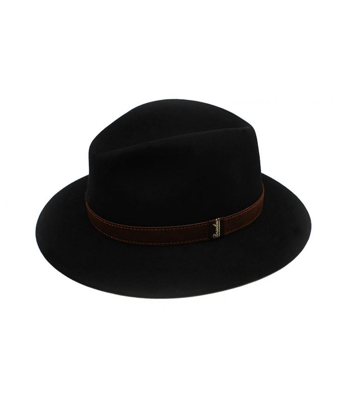 Details Alessandria black Fur Flet Hat - afbeeling 3