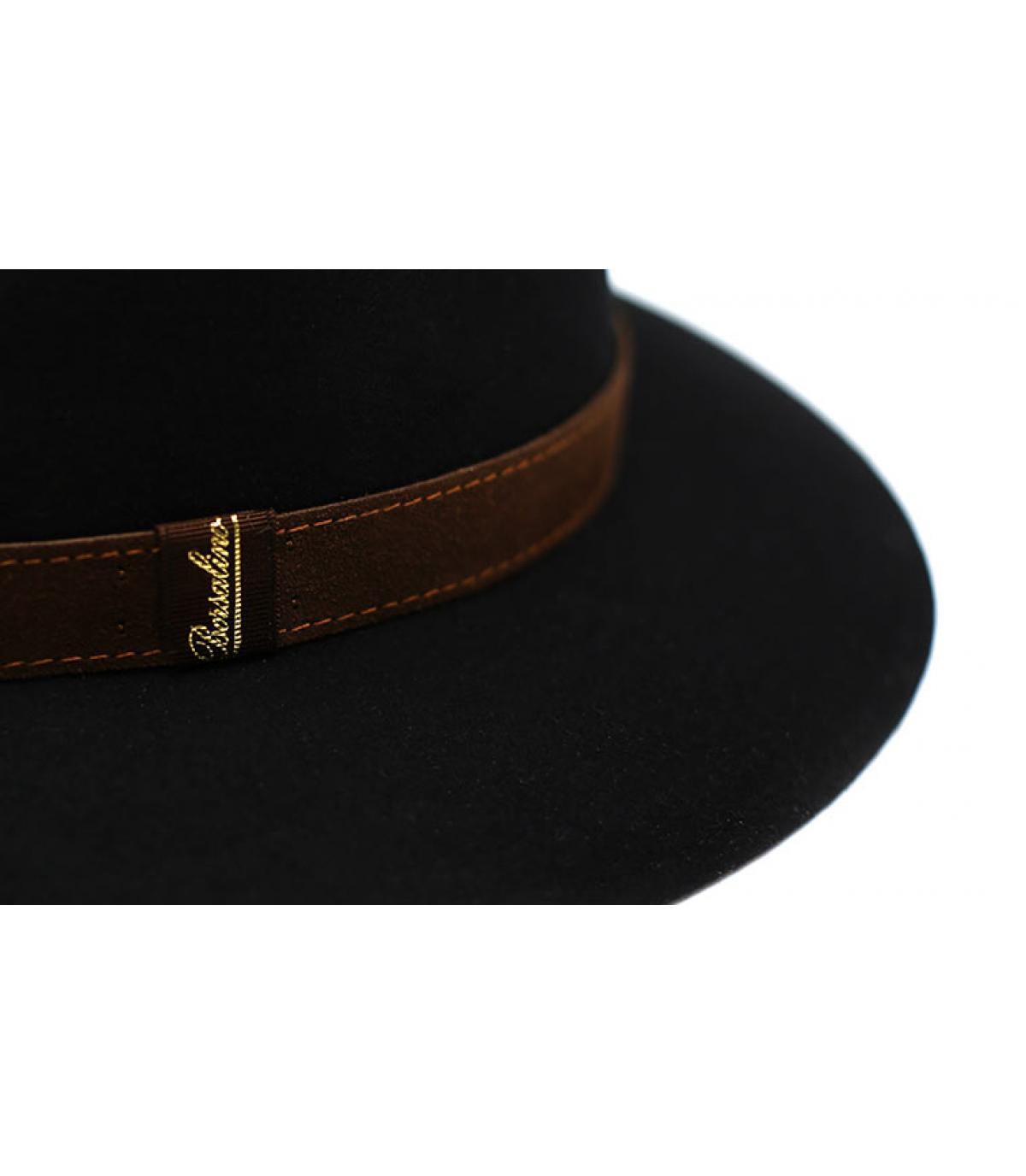 Details Alessandria black Fur Flet Hat - afbeeling 4