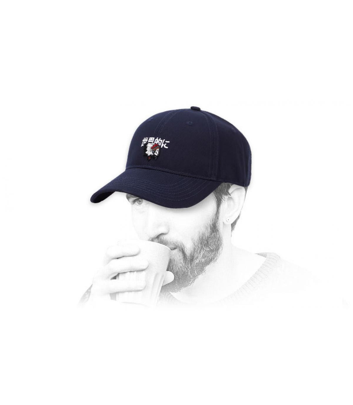 zwarte schedel indian cap