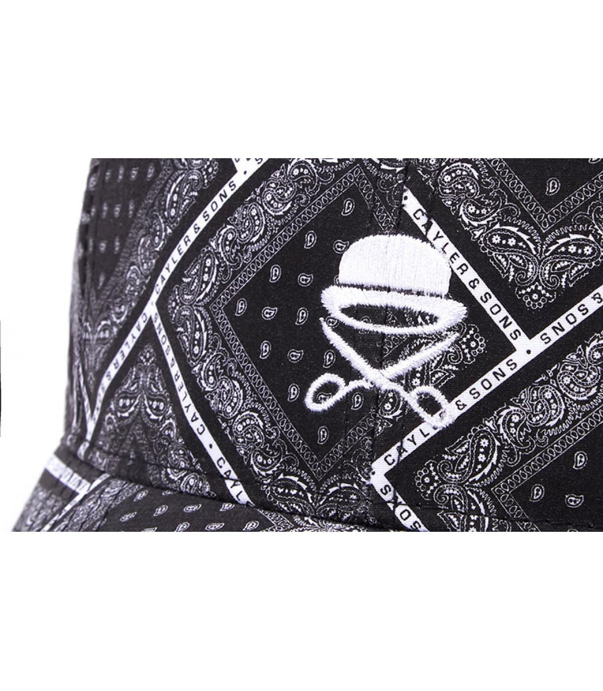 Details Bandanarama Curved black white - afbeeling 3