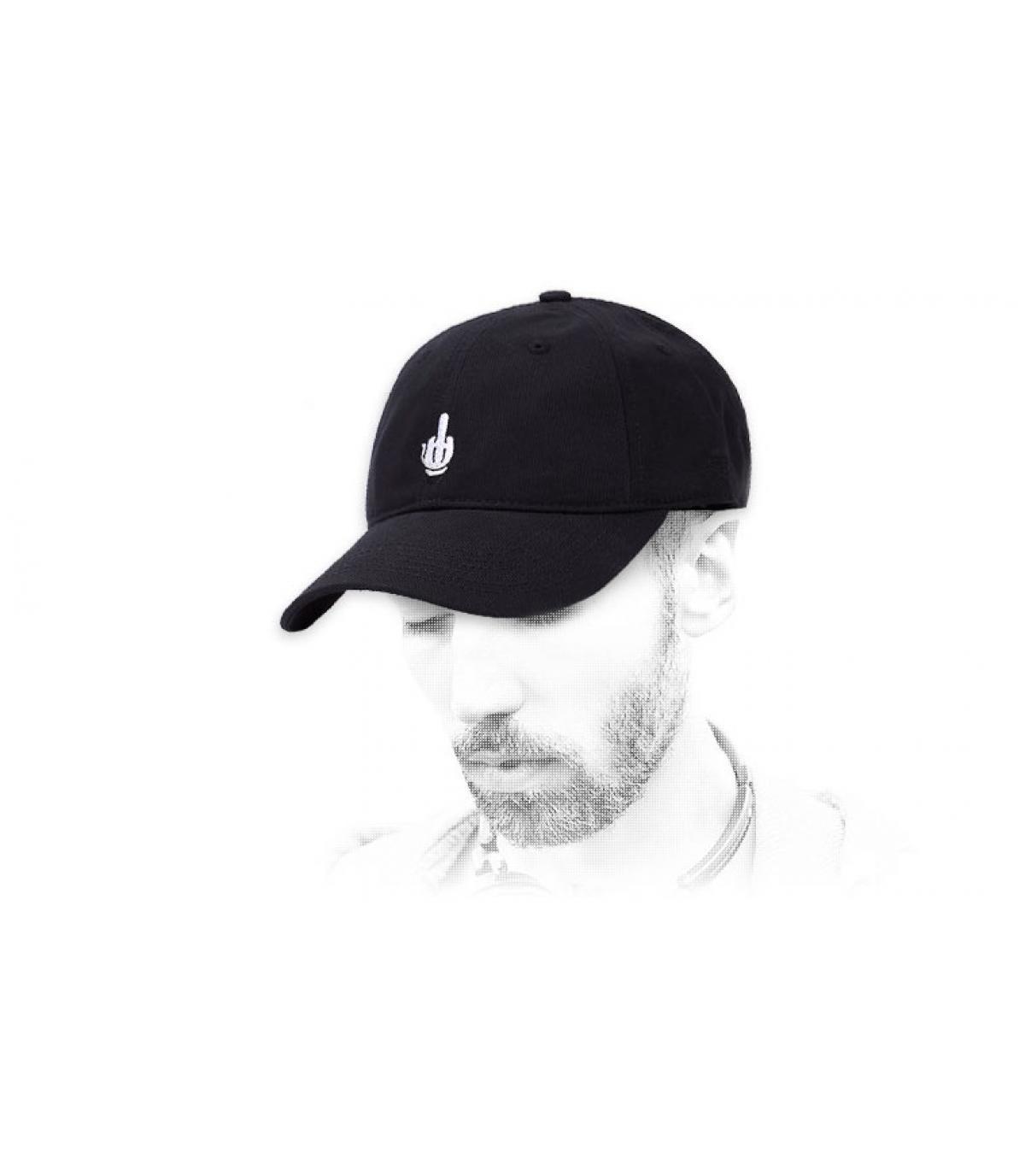 Fuck cap off zwart