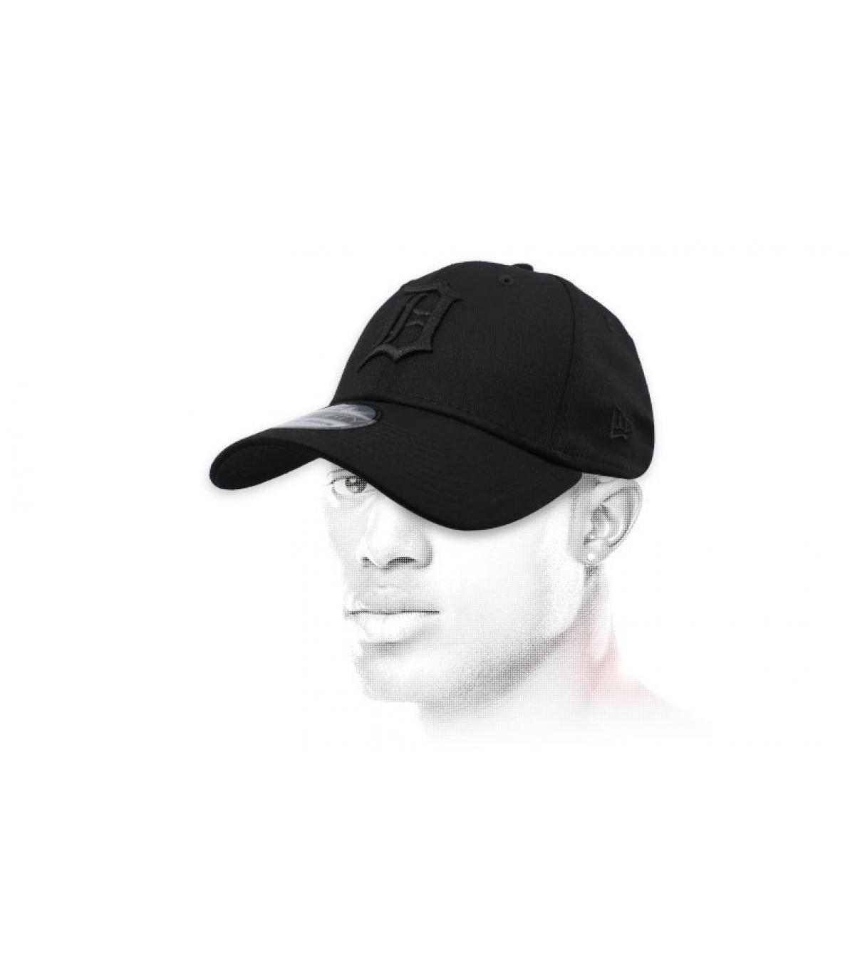 zwarte Detroit cap