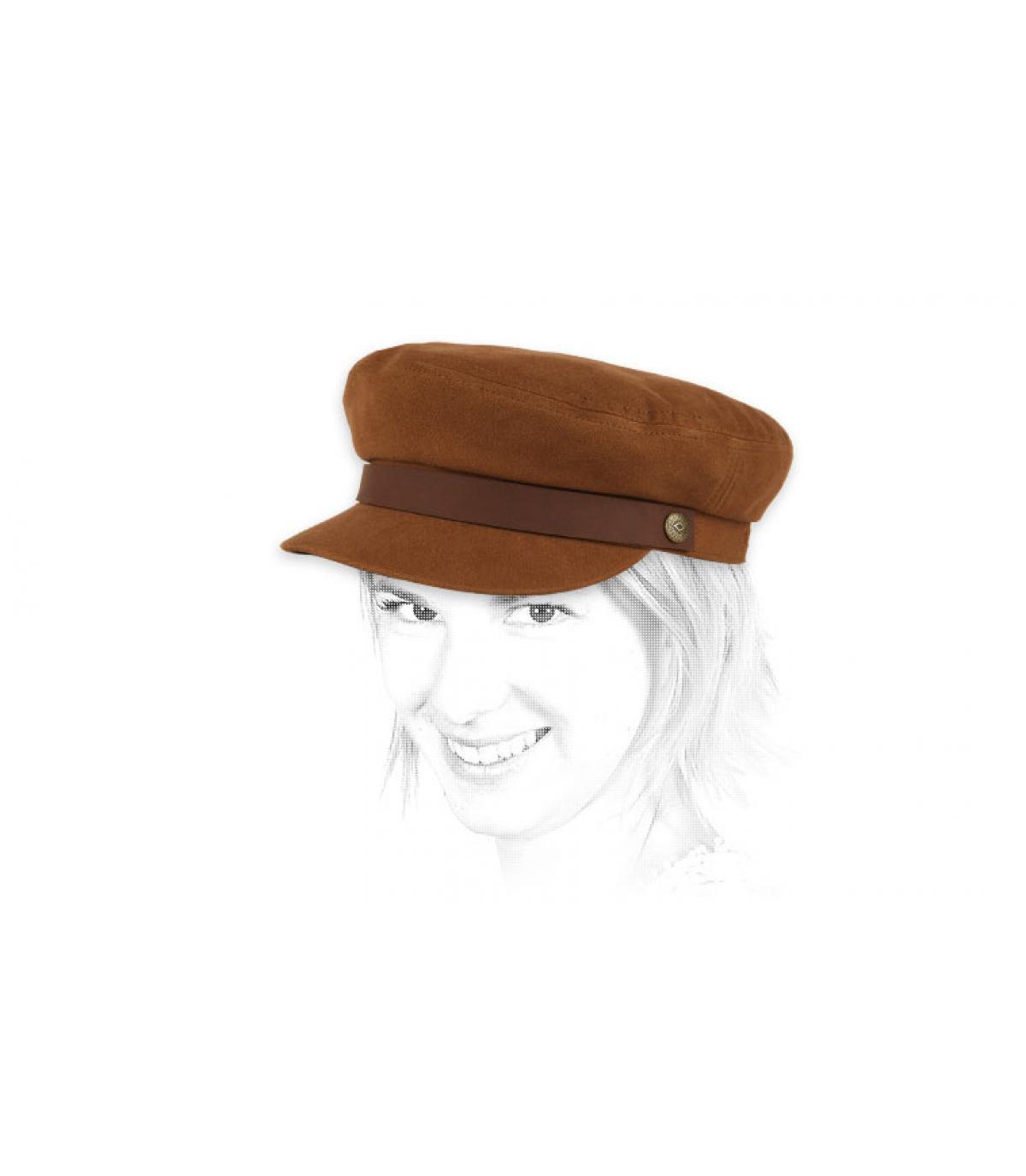 bruine vrouw cap
