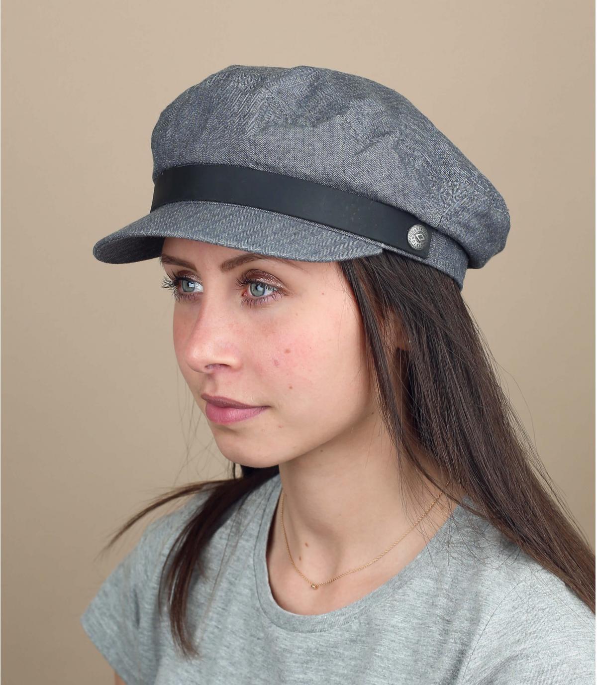matroos cap vrouw grijs