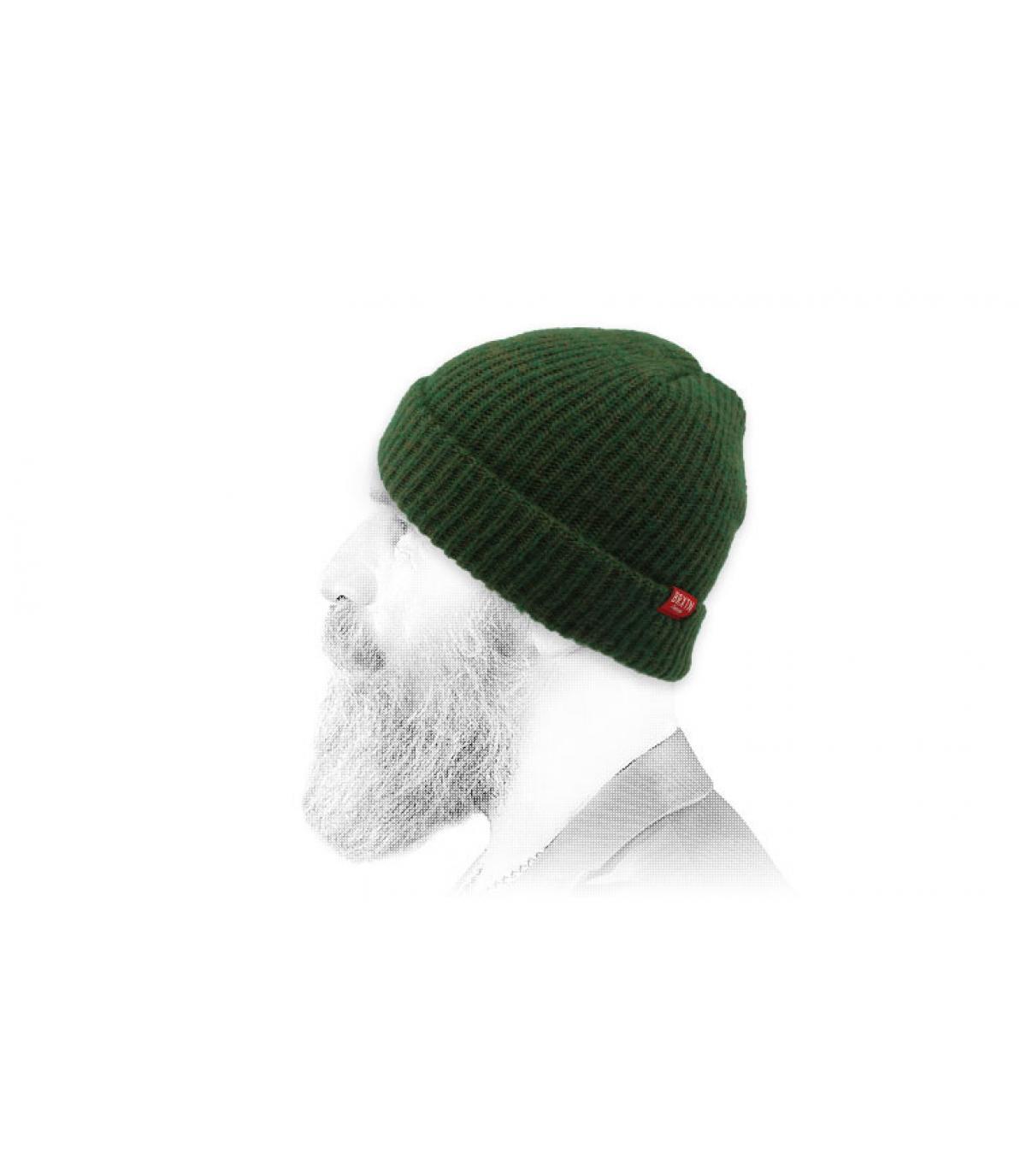 Brixton donkergroene hoed