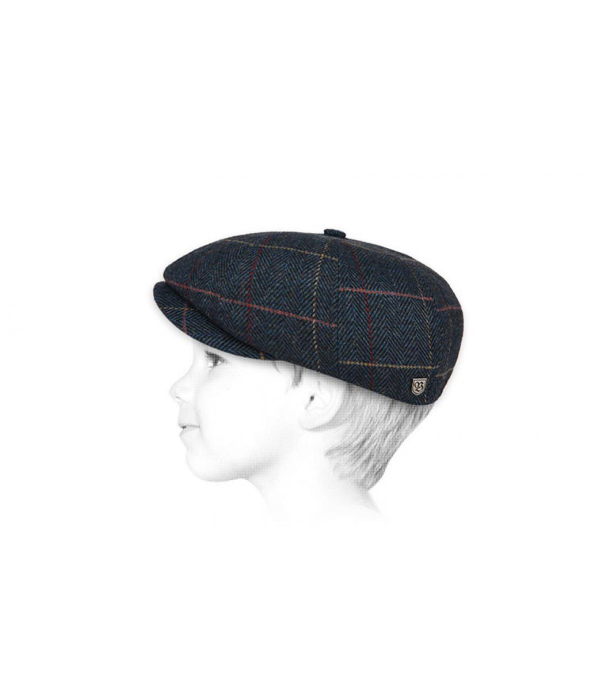 blauwe kind baret baret