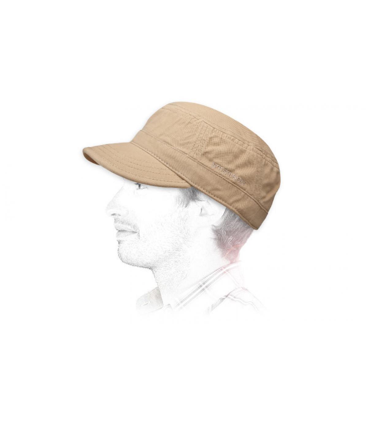 Basic beige army cap