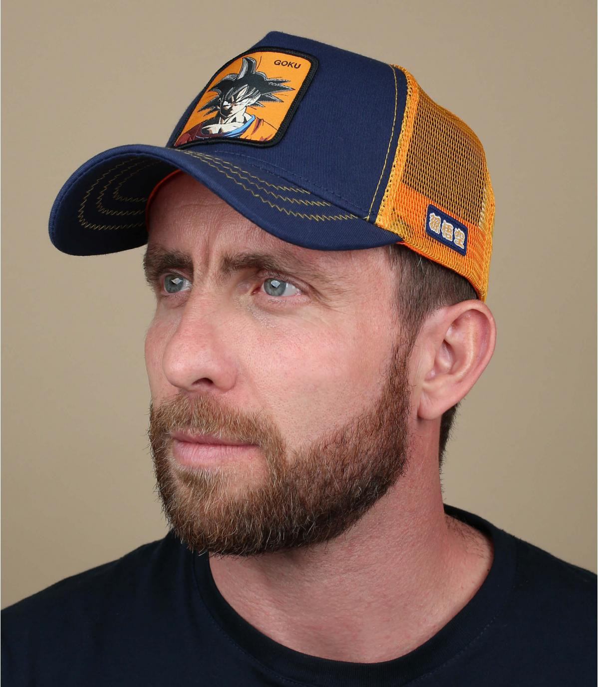 trucker Son Goku oranje blauw
