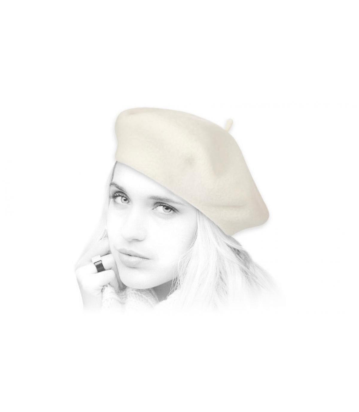 baret beige wol Laulhère