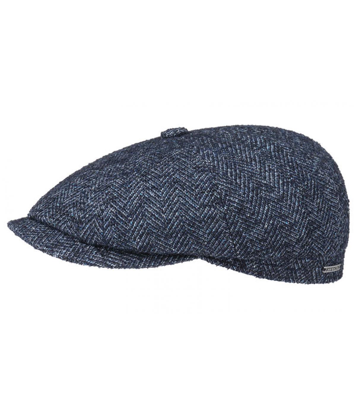 Details Hatteras Virgin Wool blue herringbone - afbeeling 2
