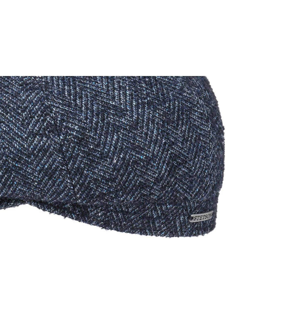 Details Hatteras Virgin Wool blue herringbone - afbeeling 3