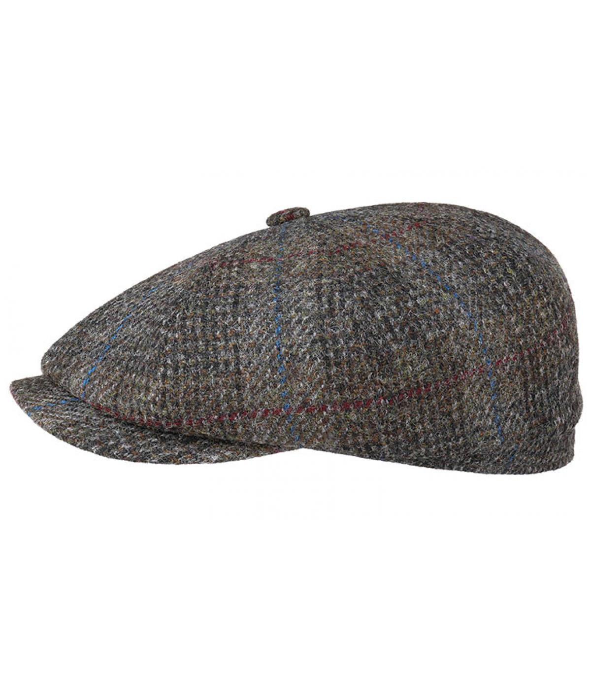 Details Hatteras Harris Tweed Virgin Wool grey check - afbeeling 2