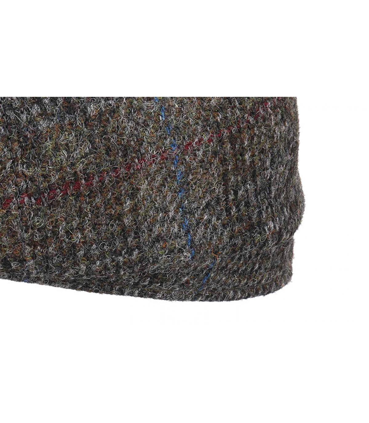 Details Hatteras Harris Tweed Virgin Wool grey check - afbeeling 3