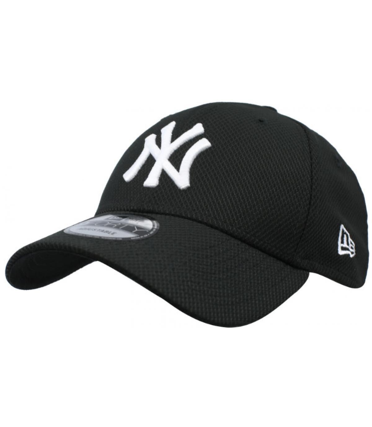 NY Diamond zwarte pet