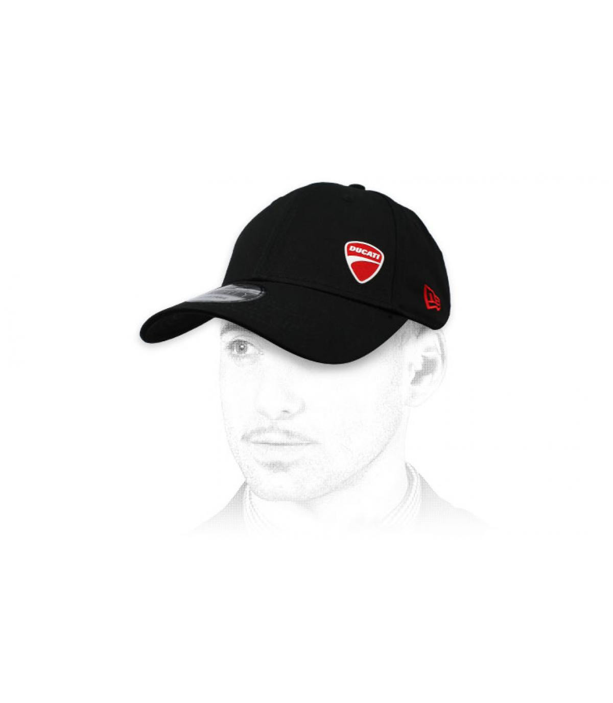 zwarte Ducati cap