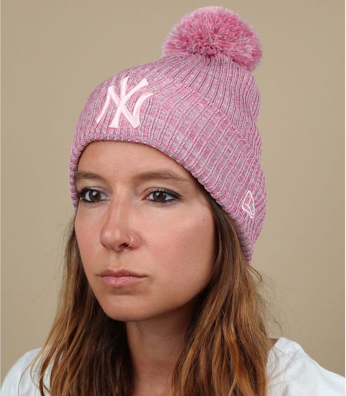 NY roze hoed