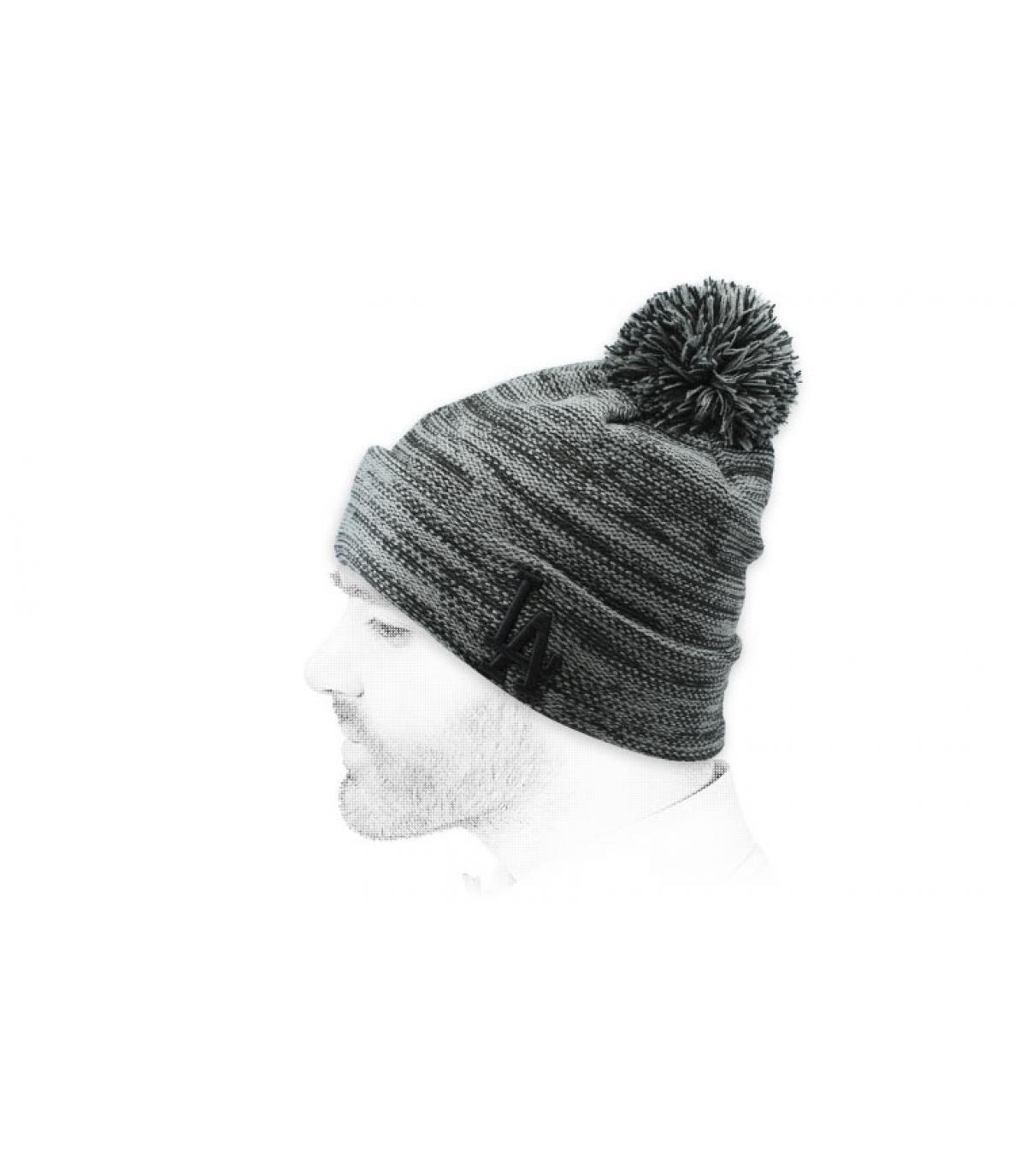 grijze LA hoed