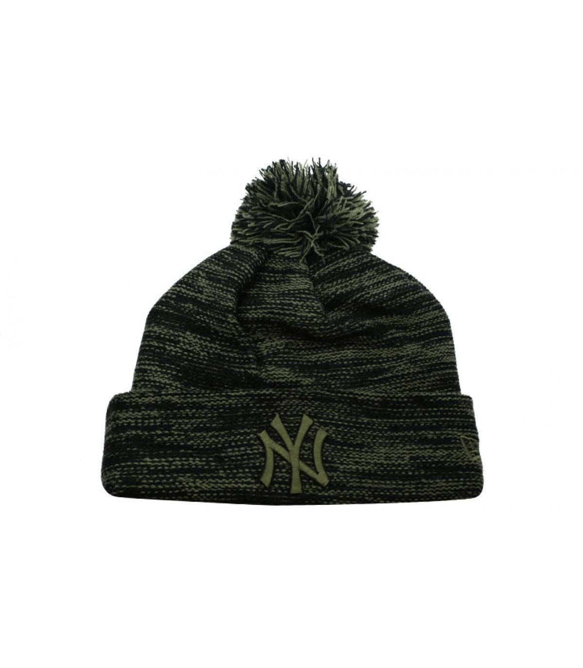 NY hoed zwart groen