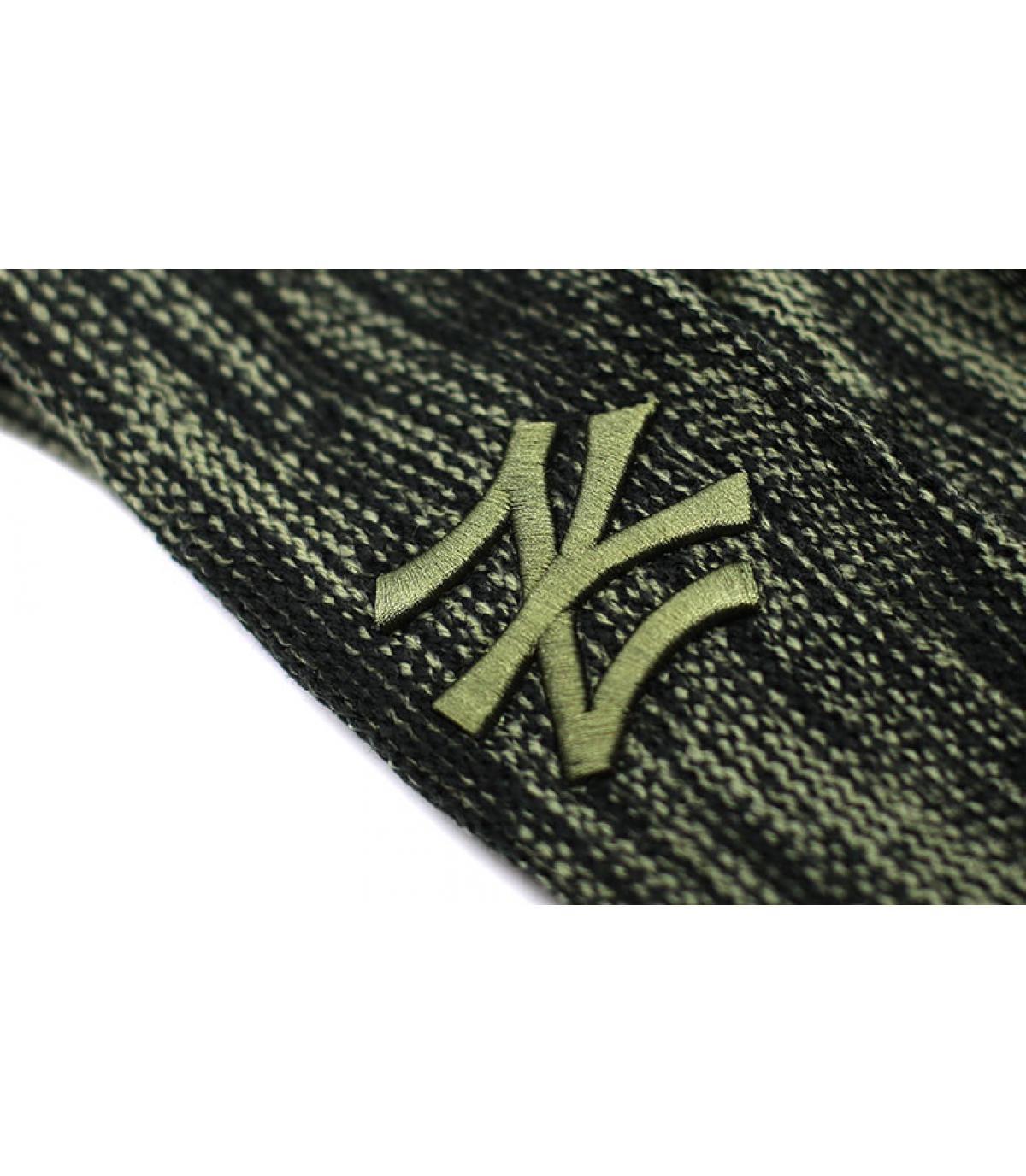 Details NY Marl Knit black Olive - afbeeling 3