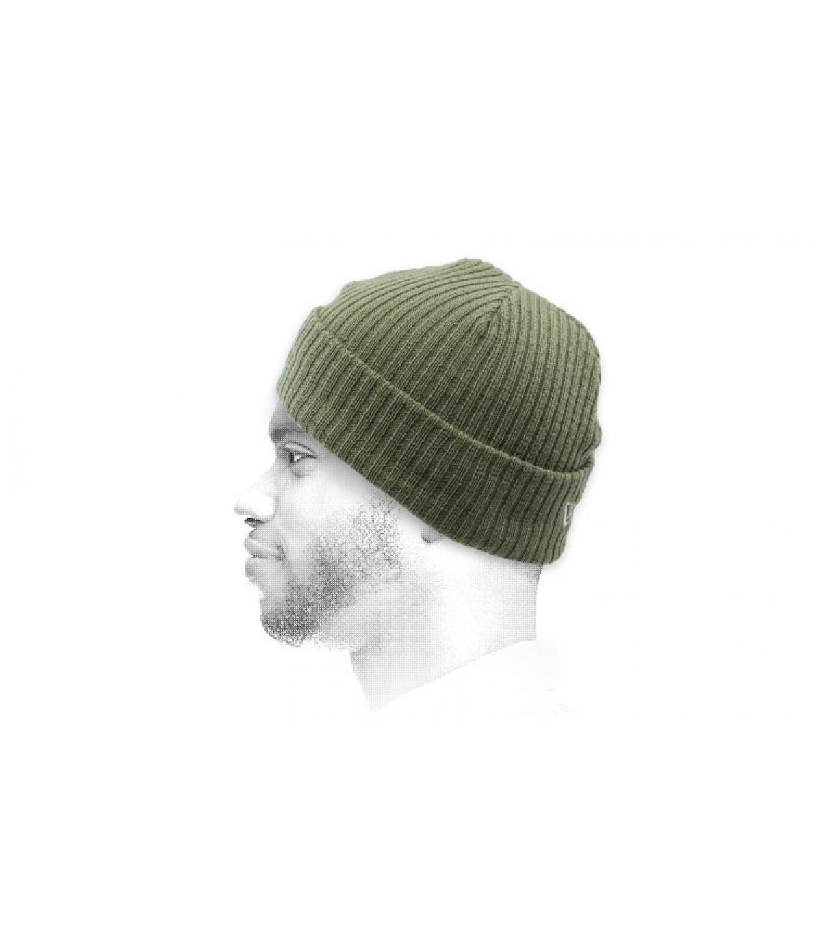 olijfgroen docker hoed